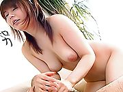 Asian maid Riko is a horny babe who also fucks and sucks cock for her boss