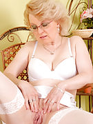 43 year familiar MILF Margeaux in processed lace plays with the lady meaty vagina