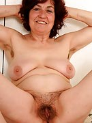 63 year old Hannah takes on alongside her furry bush yourself