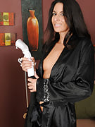 Exotic 30 spring old Nikki Daniels performances away her restricted ass and huge clit