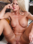 Popular 39 year older MILF Ingrid will get off the lady office clothing for your