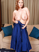 Stylish 30 spring old Salinas slips away her shows and dress big breasts