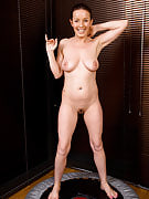 Fast bodied MILF Marlyn from 30 plus Ladies will get hot on the trampoline