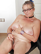 64 yr old Isabel after 30 plus Ladies growing her grey and also hairy gash