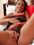Sandy K strutting this girl amazing 36 yr old quality as part of hot black lingerie