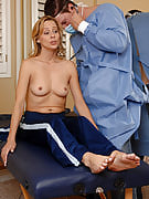 Blonde MILF will get reviewed and after that fucked hard through her doctor
