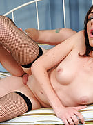30 yr old Katie from 30 plus Ladies takes the hard stiff cock deep in