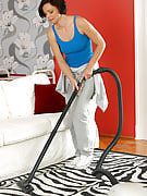 Practically nothing such as a tiny bit housework in order to get this particular brunette MILF hot and horny