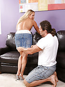31 year familiar golden-haired get the lady pussy pounded along with hard tool