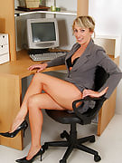 Watch this MILF secretary take out of this girl accommodate and also begin growing