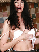 Long haired brunette MILF Scarlett D performances off this girl adult body shape