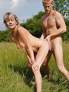 45 yr old Sherry D gets her mature crotch stuffed chock-full of frustrating tool