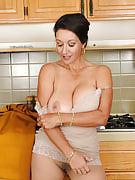 Busty MILF Persia takes a rest in order to tug at just her hairy 53 yr old crotch